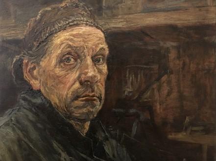 'Zelfportret met petje van pa'